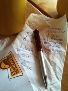 Sliding napkin
